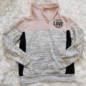 Love Pink grey black hoodie sz xs